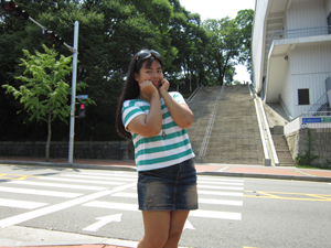 2012.08.07 Kim Sam Soon steps, Namsan